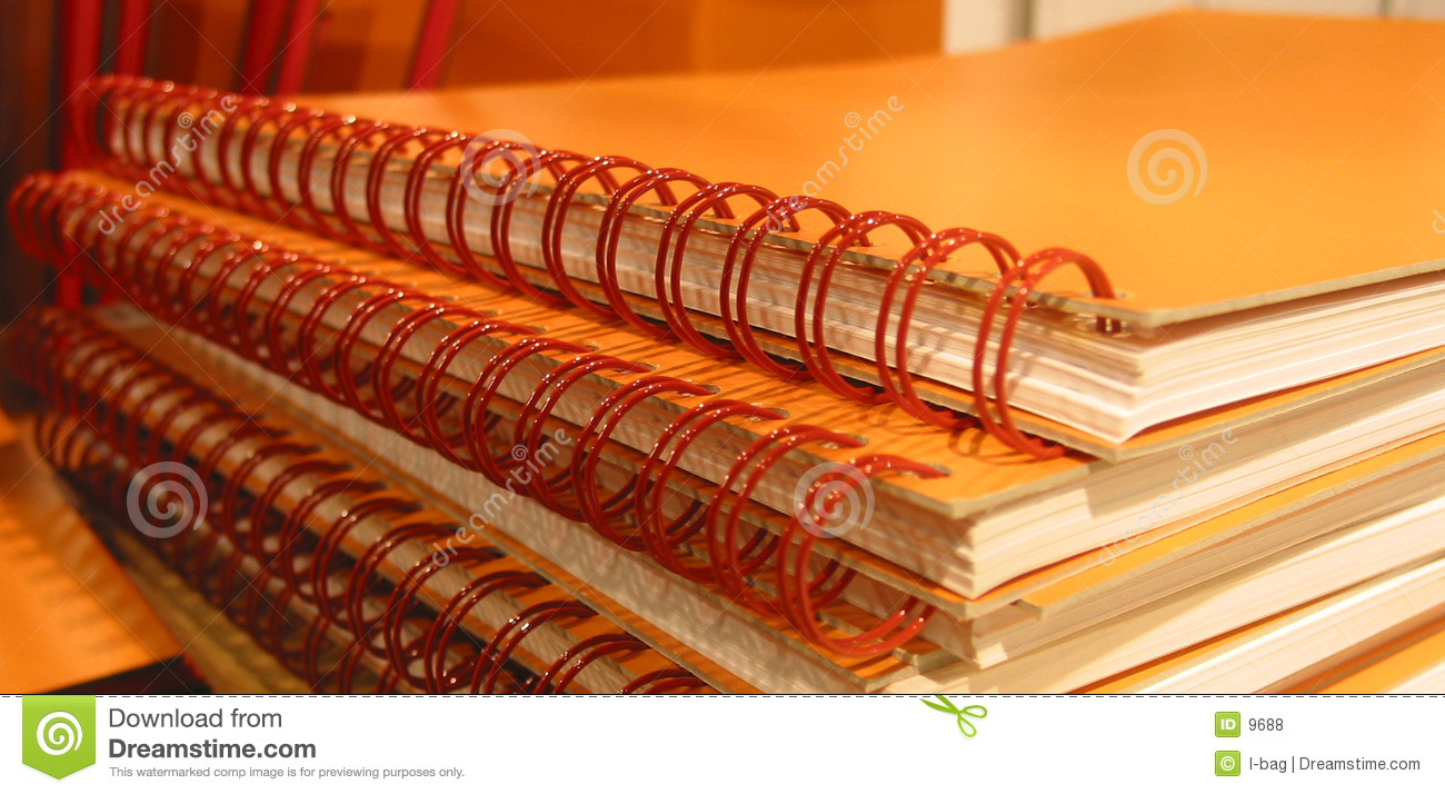 Orange notebooks