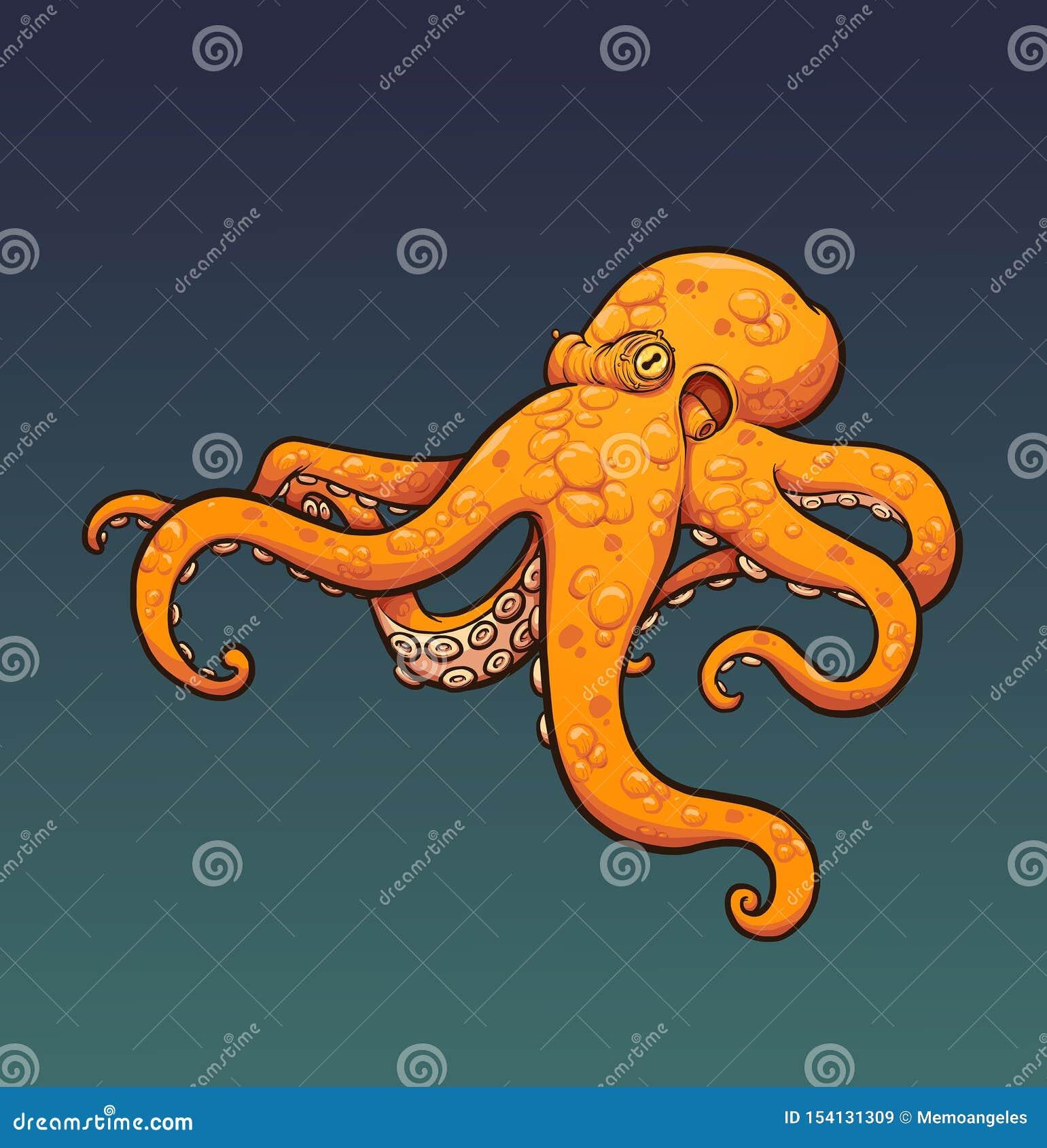 Blue octopus stock illustration. Illustration of pink - 37705553