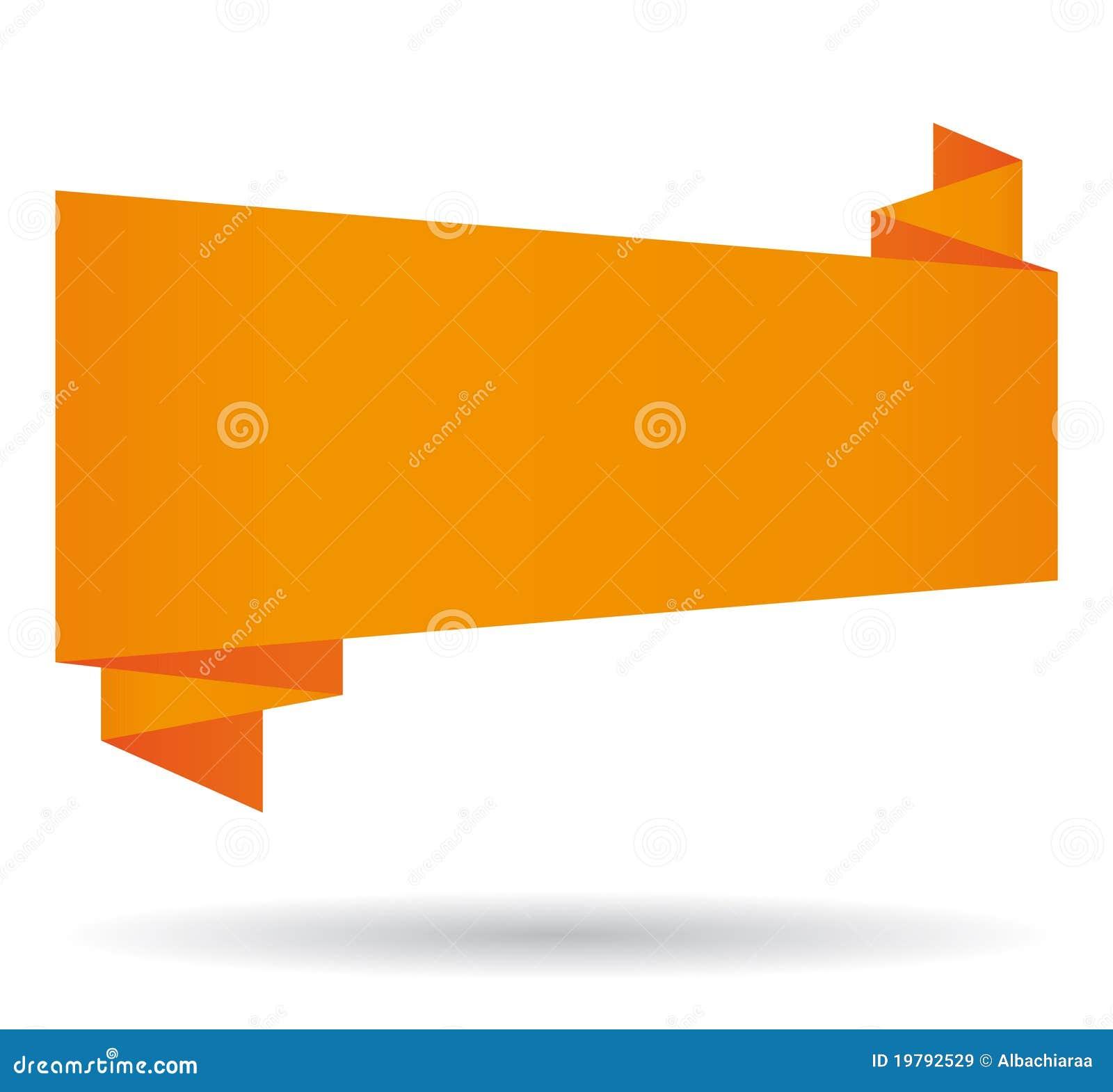 Orange origami Fahne.