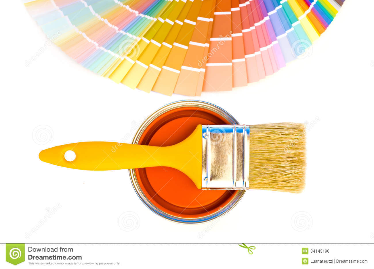 Orange paint and swatches royalty free stock image for Shades of orange paint