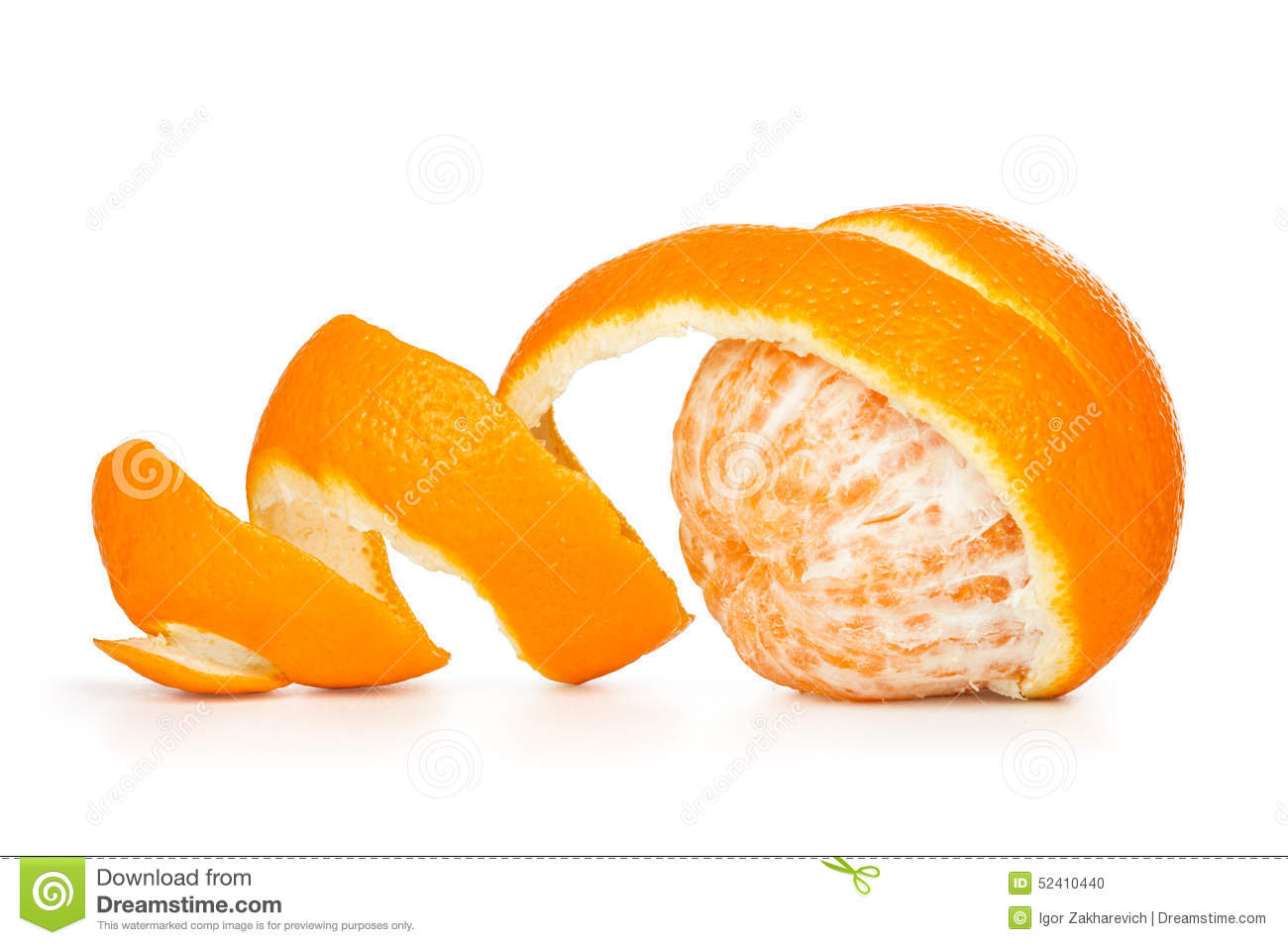Orange peeled skin