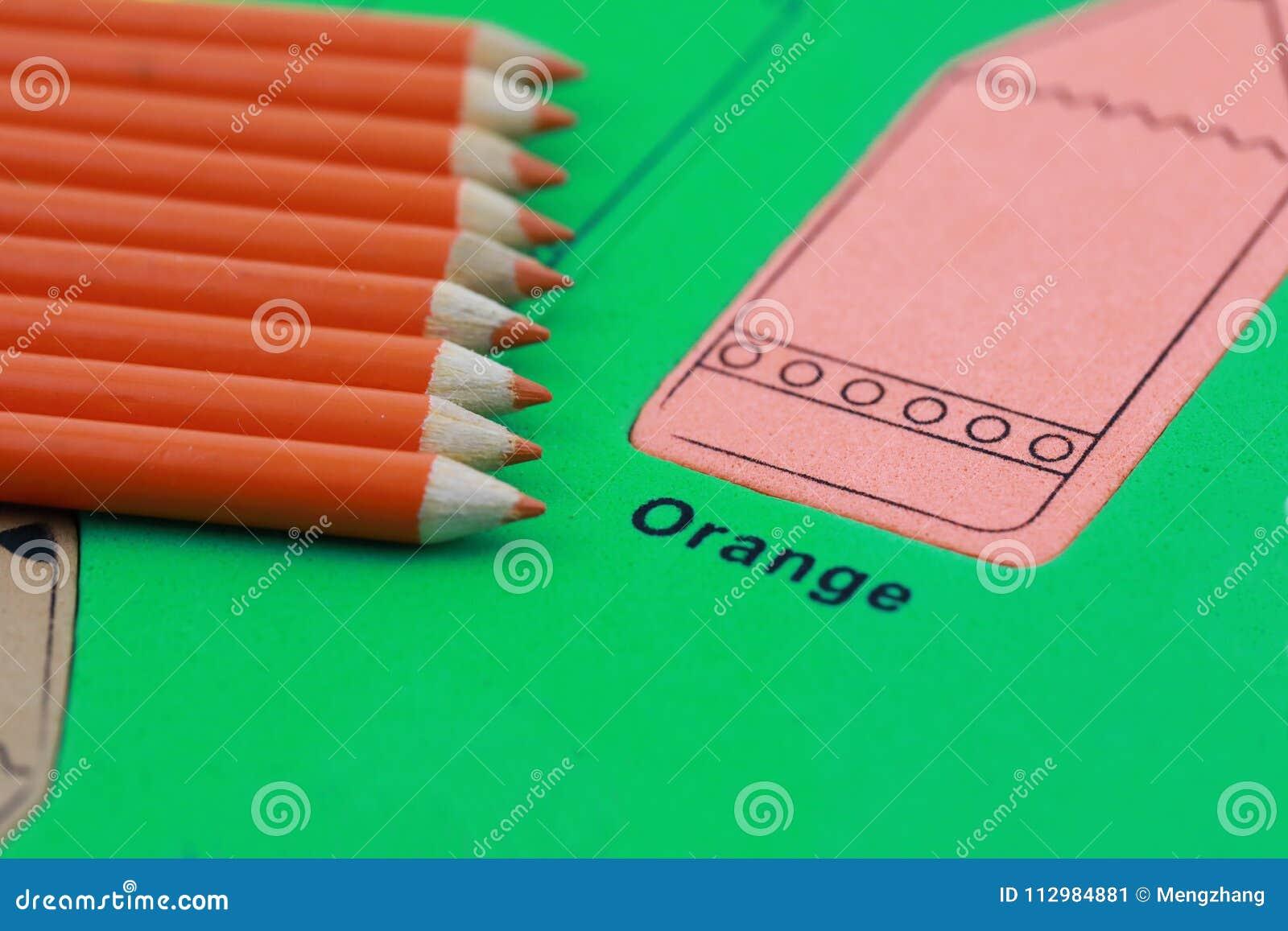 orange pencil crayon