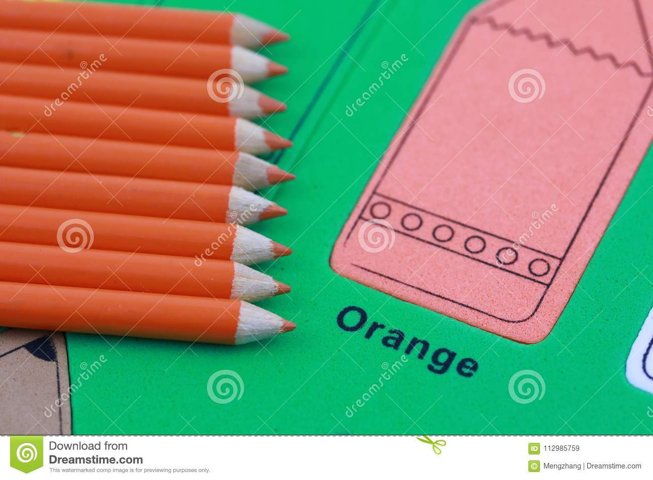orange pencil crayon