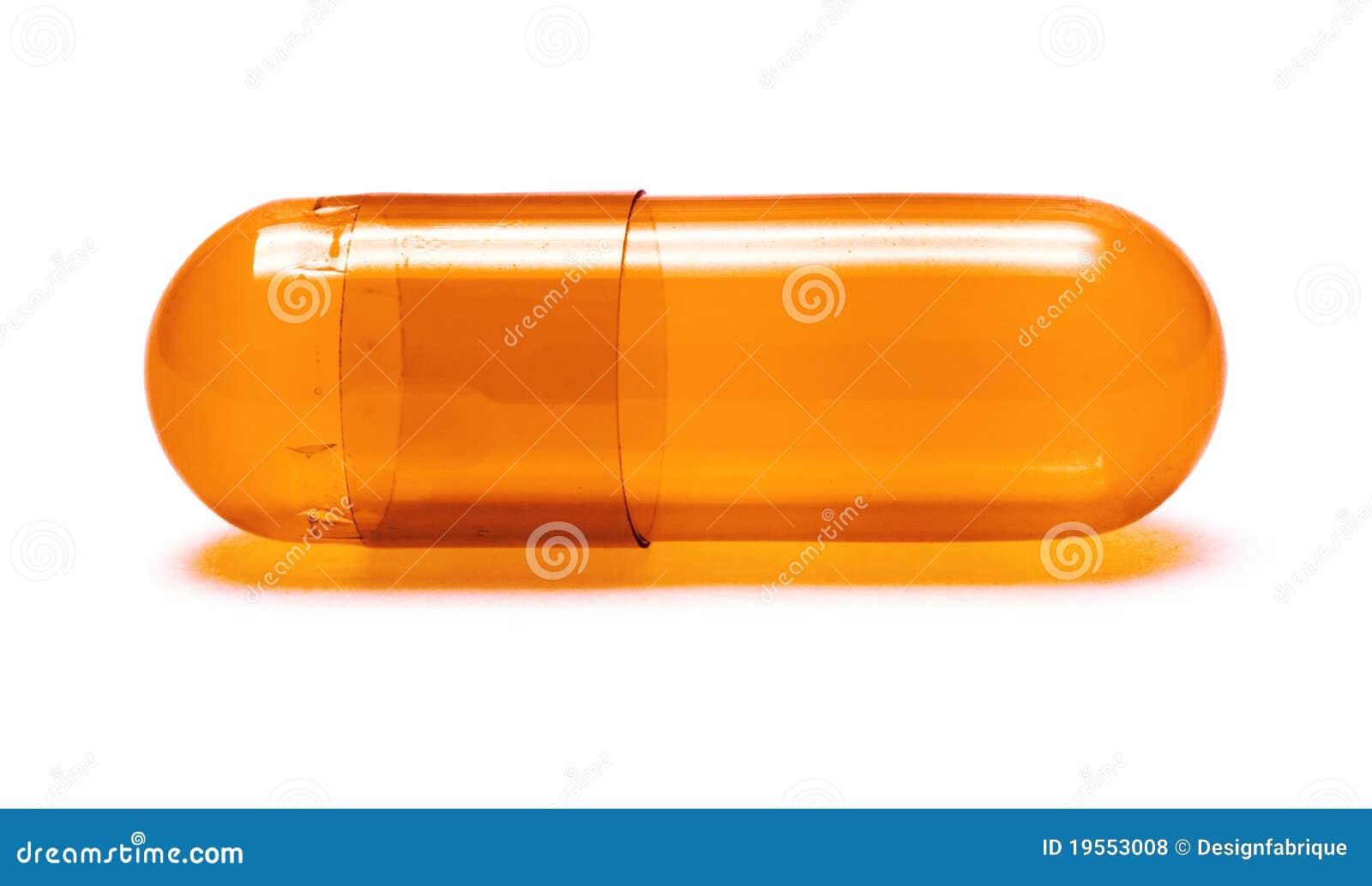 Orange Pill Royalty Free Stock Photos - Image: 19553008