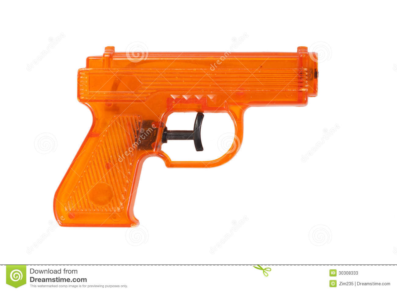 Orange Plastic Water Pistol Stock Photos Image 30308333
