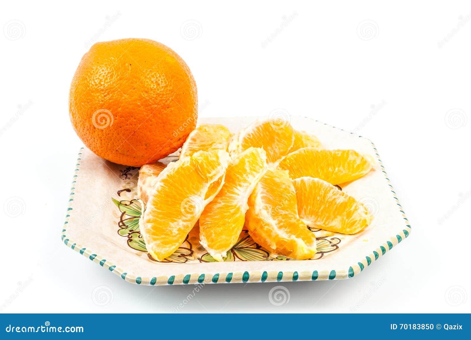 Orange platta