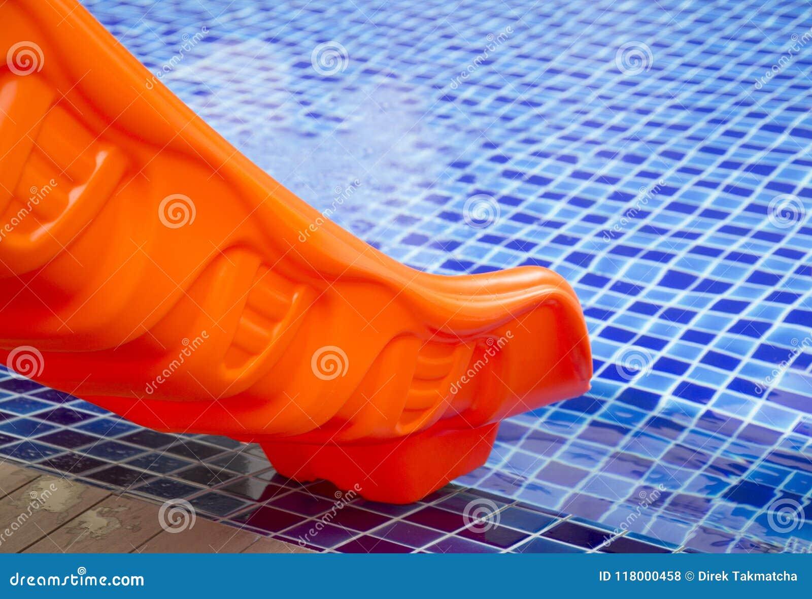c9edd2eda59 Orange pool slider stock photo. Image of sport, slider - 118000458