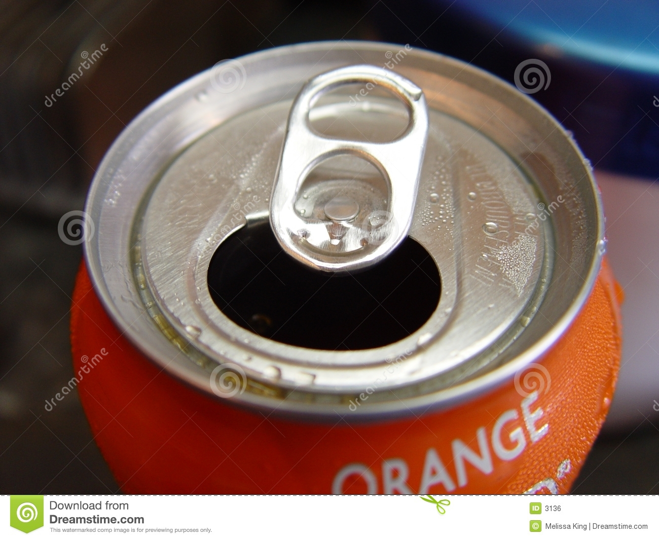 Orange Pop Can