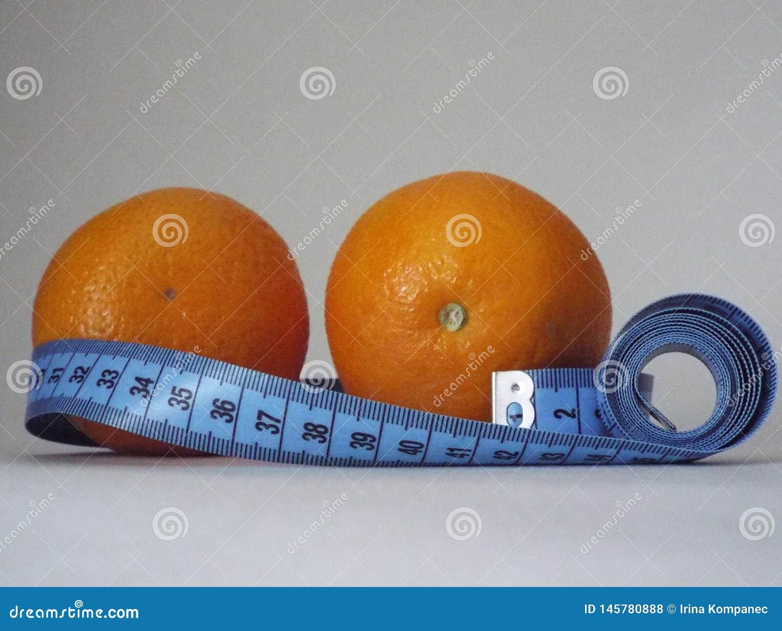 Orange orange, régime, amincissant, santé, centimètre