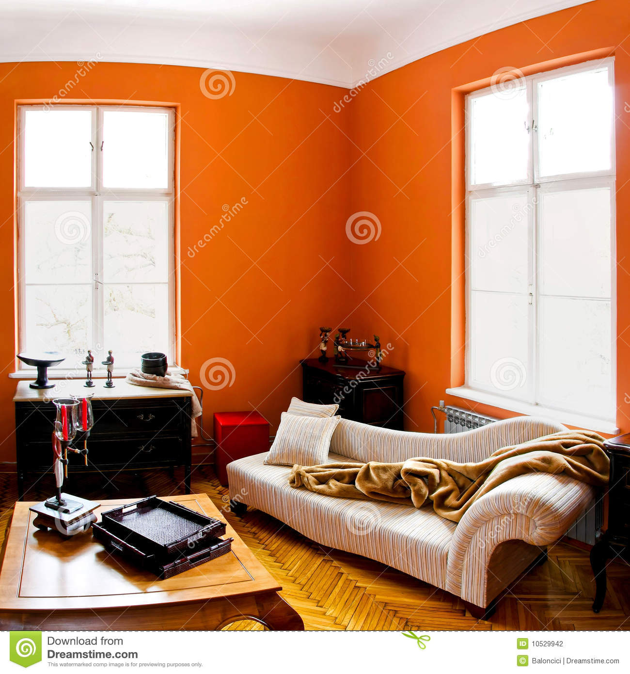 orange raum stockfotografie bild 10529942. Black Bedroom Furniture Sets. Home Design Ideas