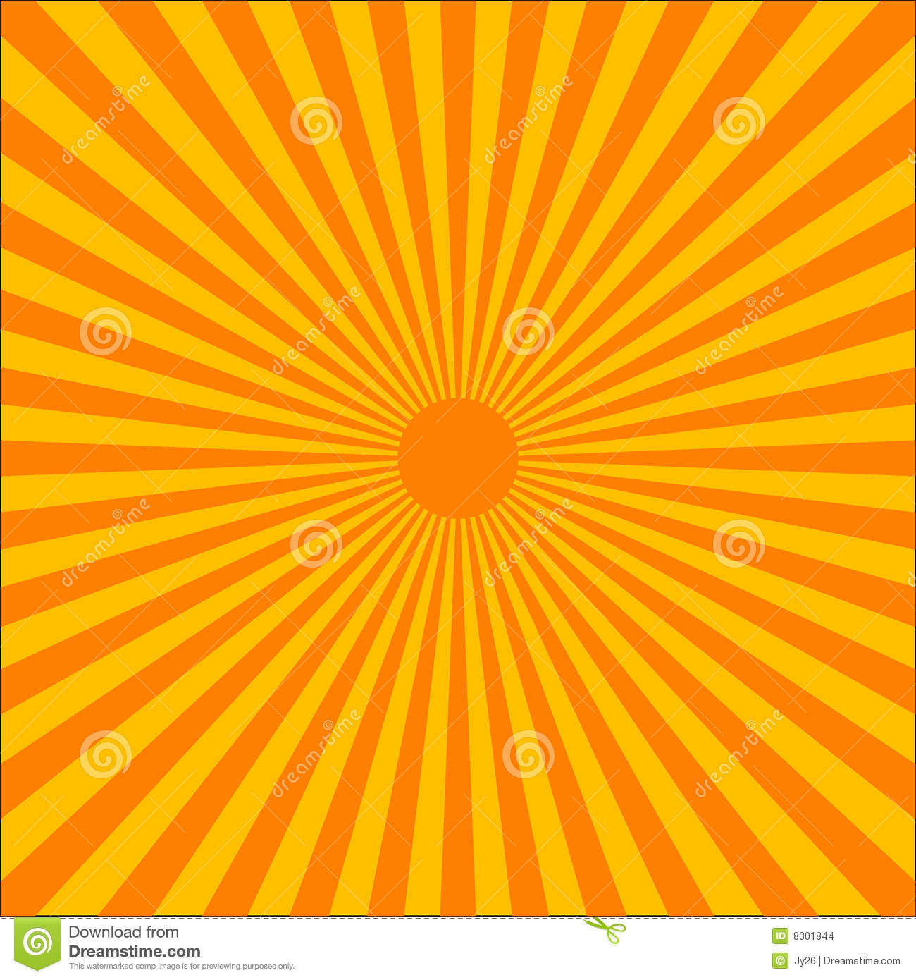 Orange Ray Burst Stock Images - Image: 8301844