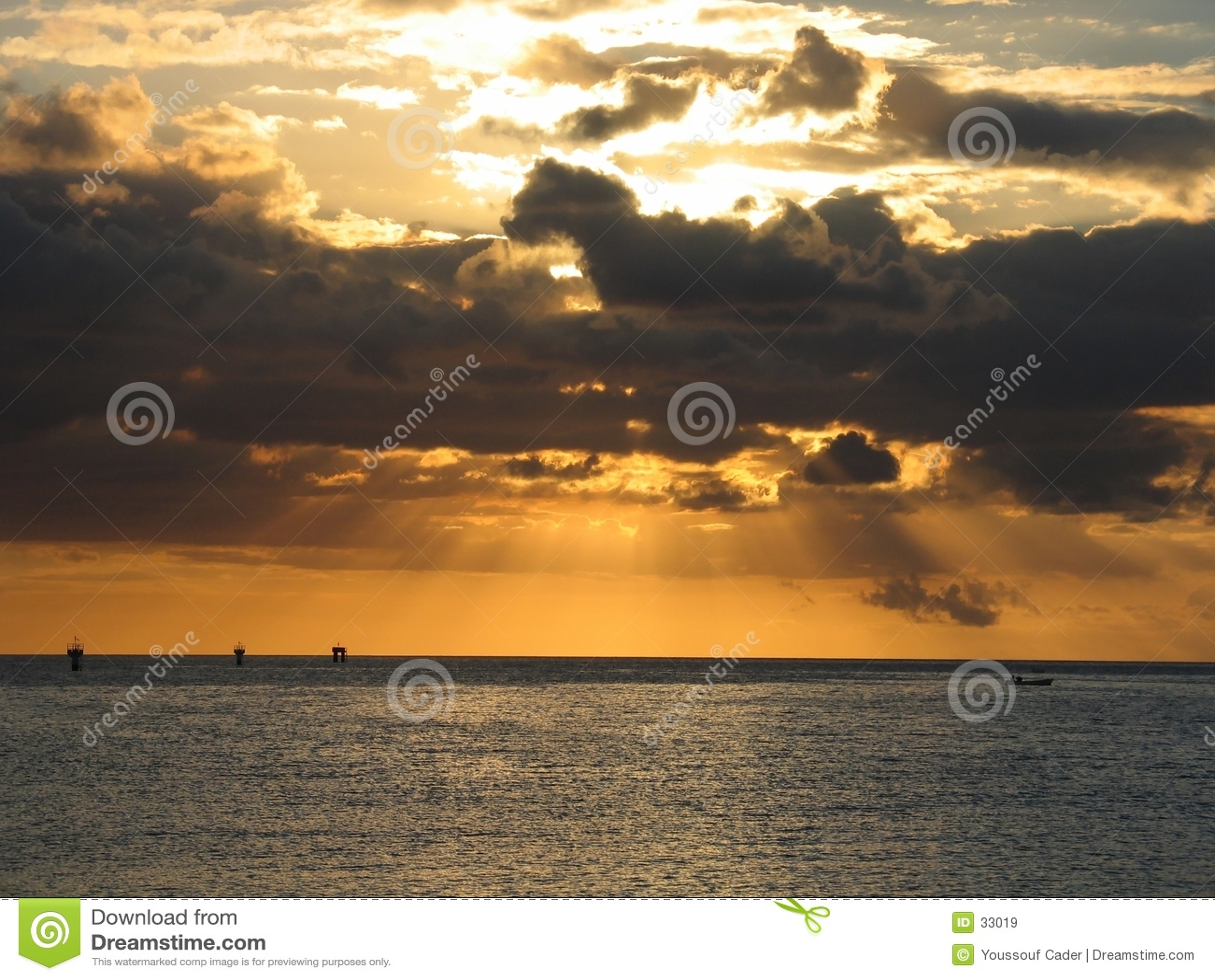 Orange Rays of light