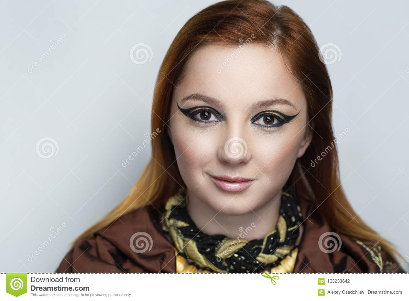 Brown Hair Woman Stock Photo Image Of Face Looking 103233642