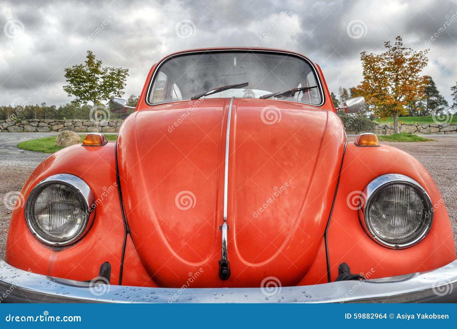 Orange retro car stock photo. Image of orange, bright - 59882964