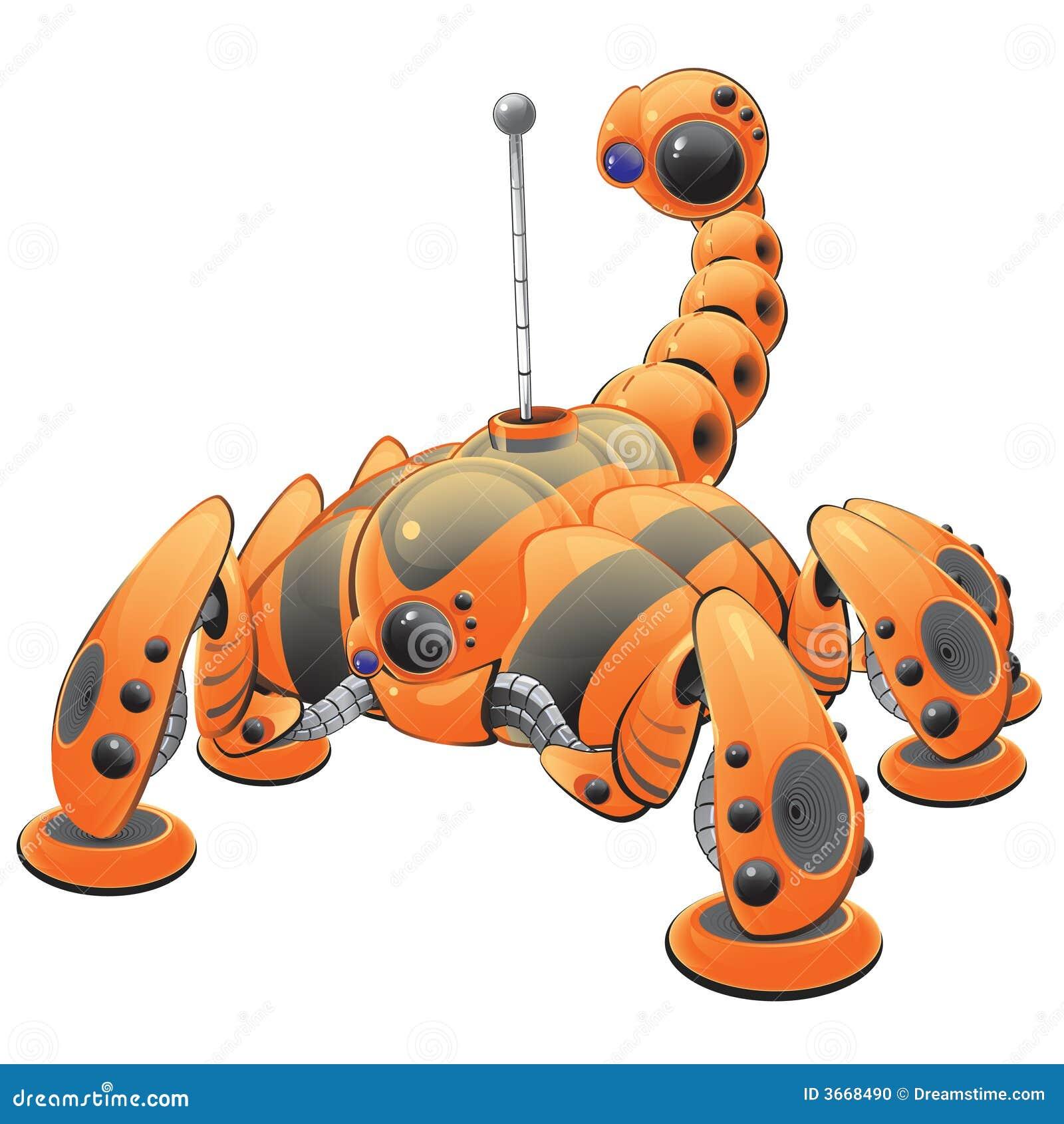 Orange Robot Illustration Editorial Image Image 3668490