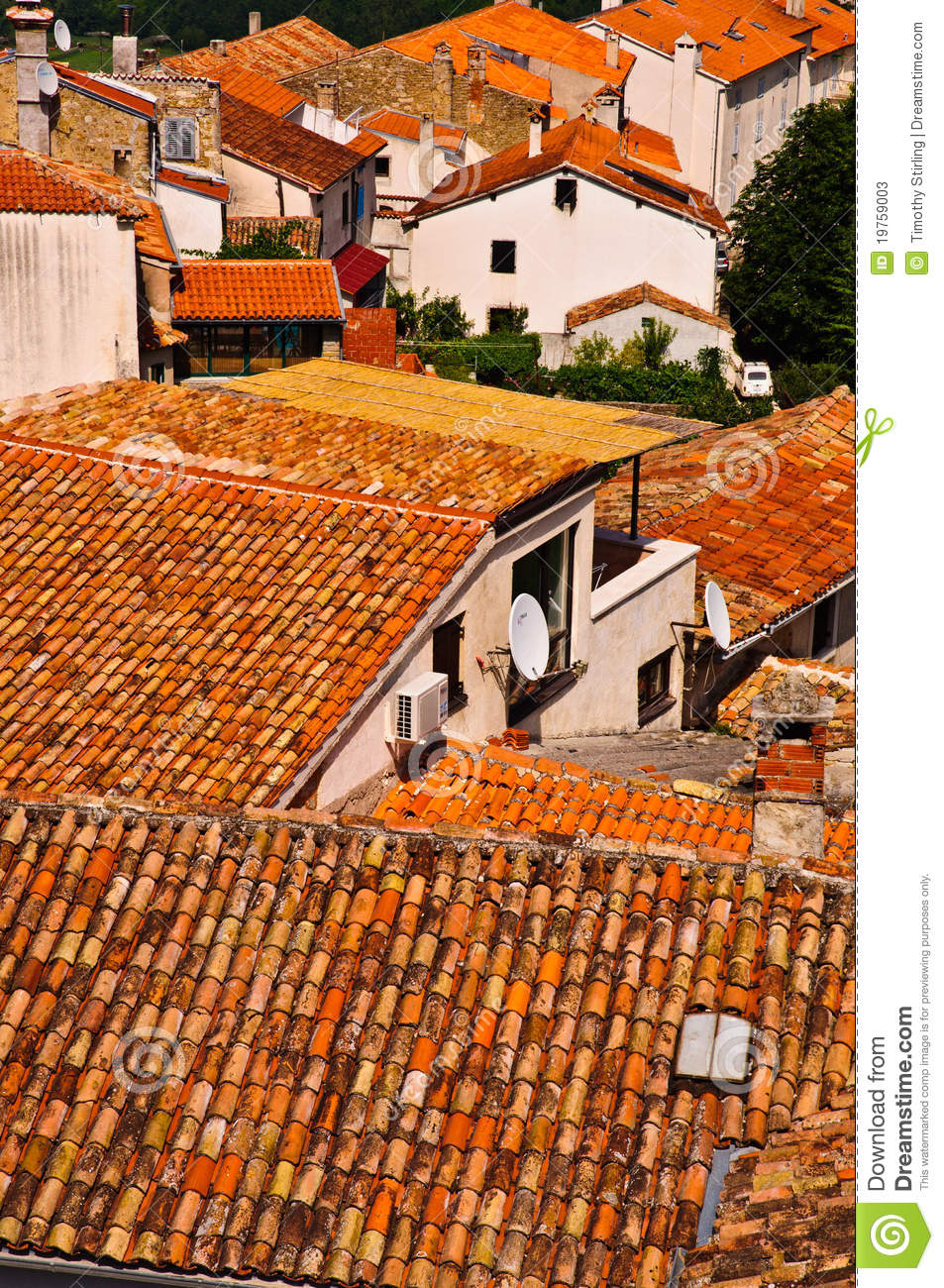 Orange Roof Tiles In Old Town Stock Photos Image 19759003
