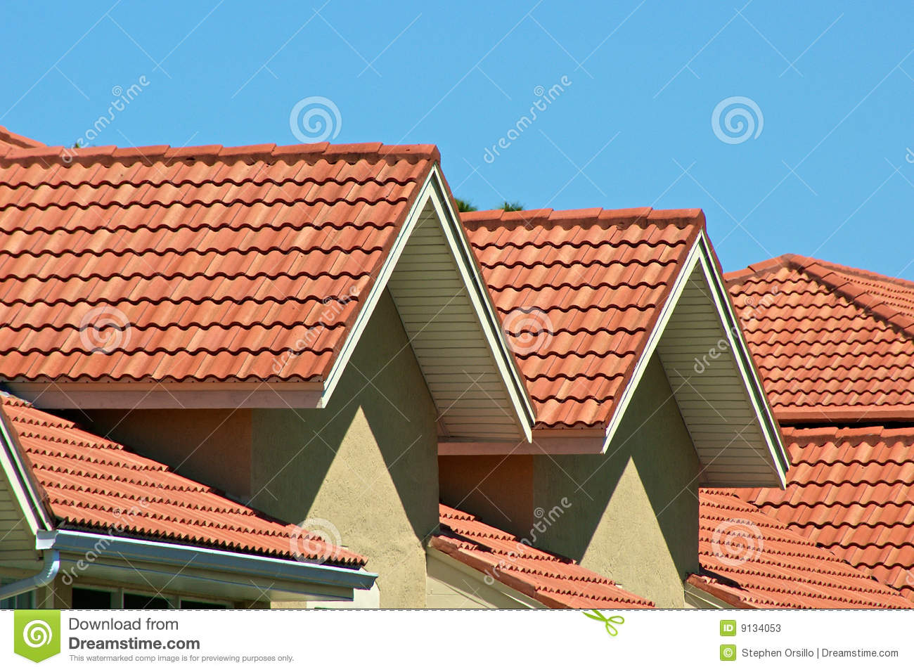 Orange roof tops stock image image of florida angle for Dream roof