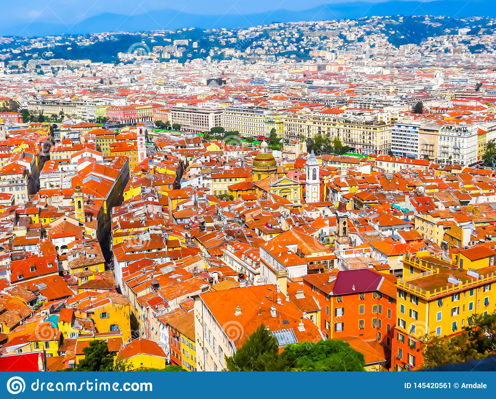 Aerial view of the Nice, France