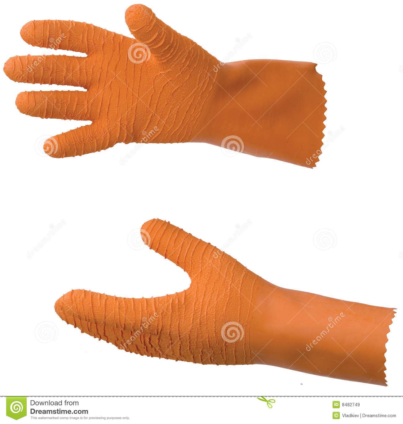Orange rubber fisherman gloves royalty free stock images for Fish cleaning gloves