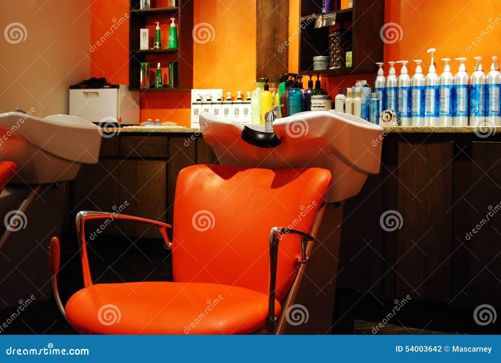 Orange salon wash station stock photo image of orange for Salon orange