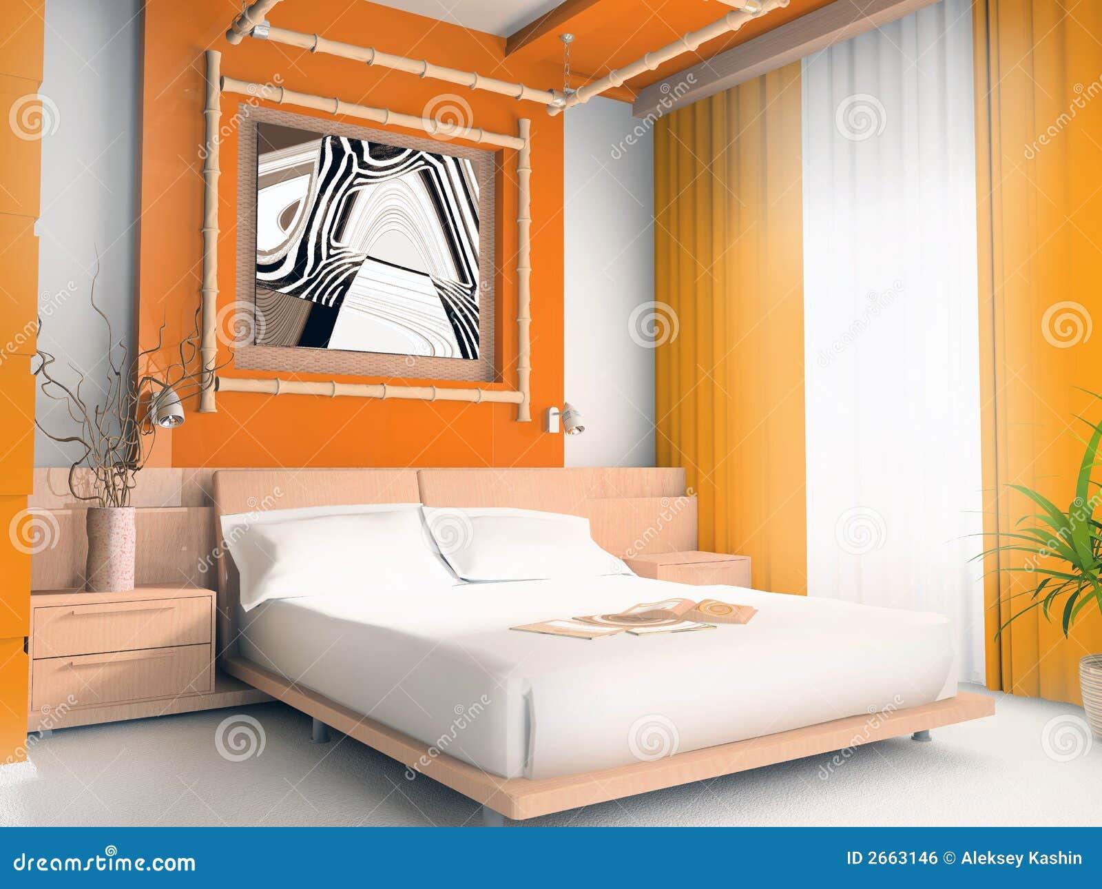 orange schlafzimmer lizenzfreies stockbild - bild: 2663146, Schlafzimmer entwurf