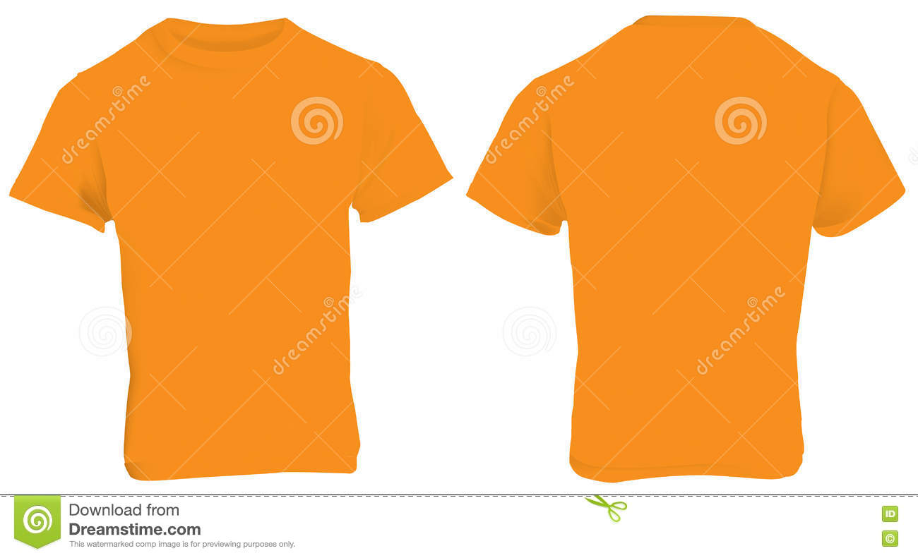 T shirt template vector front and back