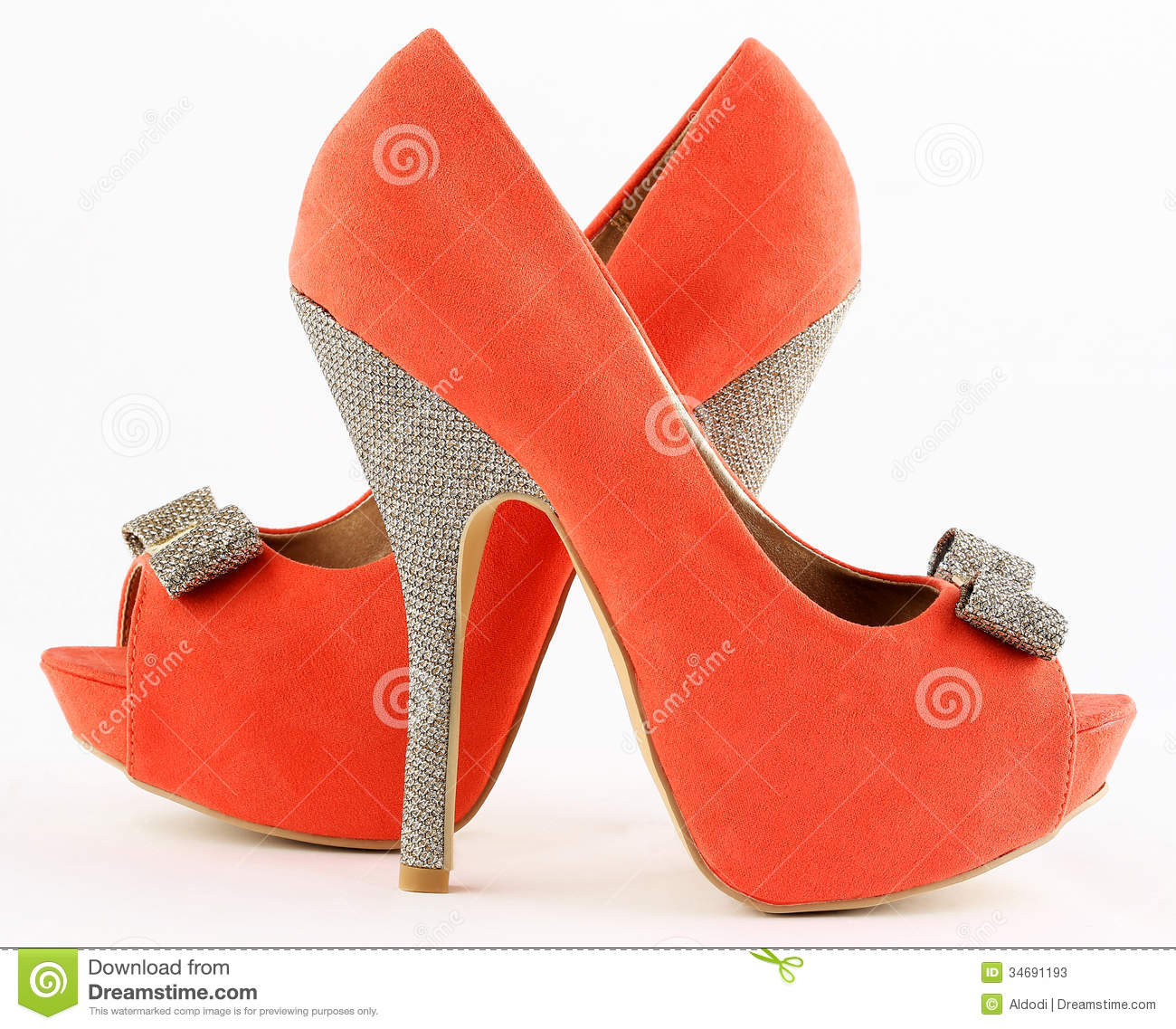 Orange Red Heels - Is Heel