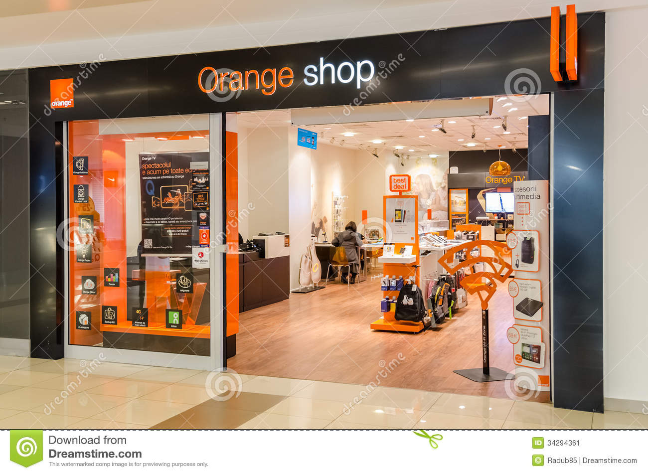 Orange shop editorial photo image of internet customer for Orange mobel