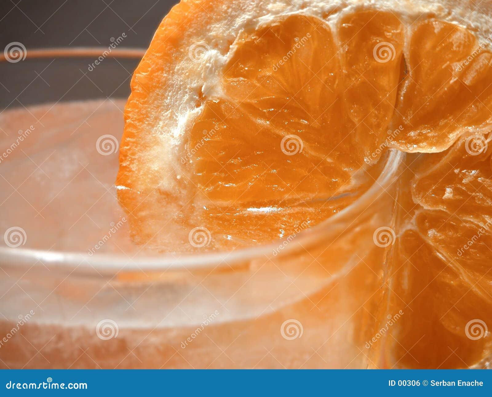 Orange skiva för detalj