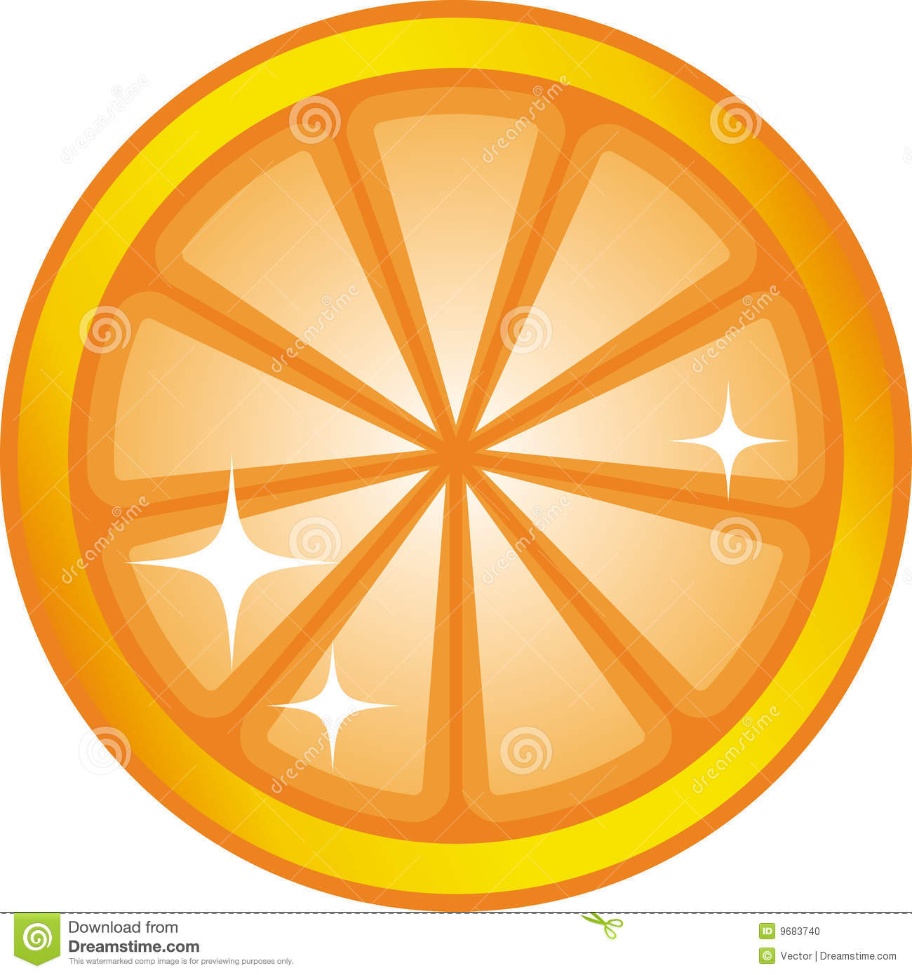 Orange Slice (Vector) Stock Photo - Image: 9683740