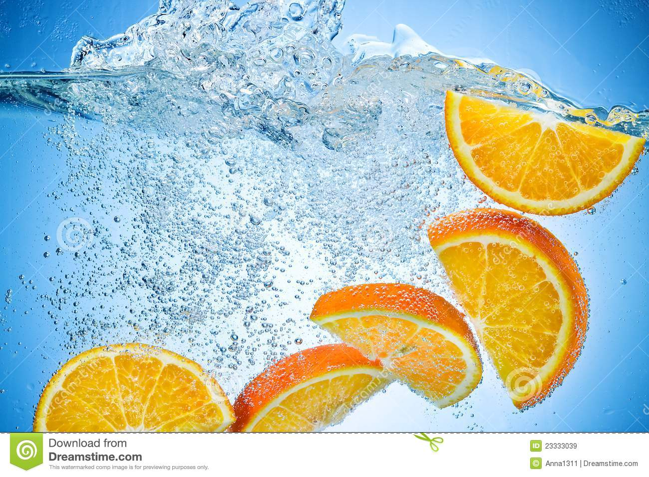slice 1 orange and fill up the rest of a container with water and ice. Let soak for a minimum of 2 hours. You may keep this refrigerated and drink at your leisure.