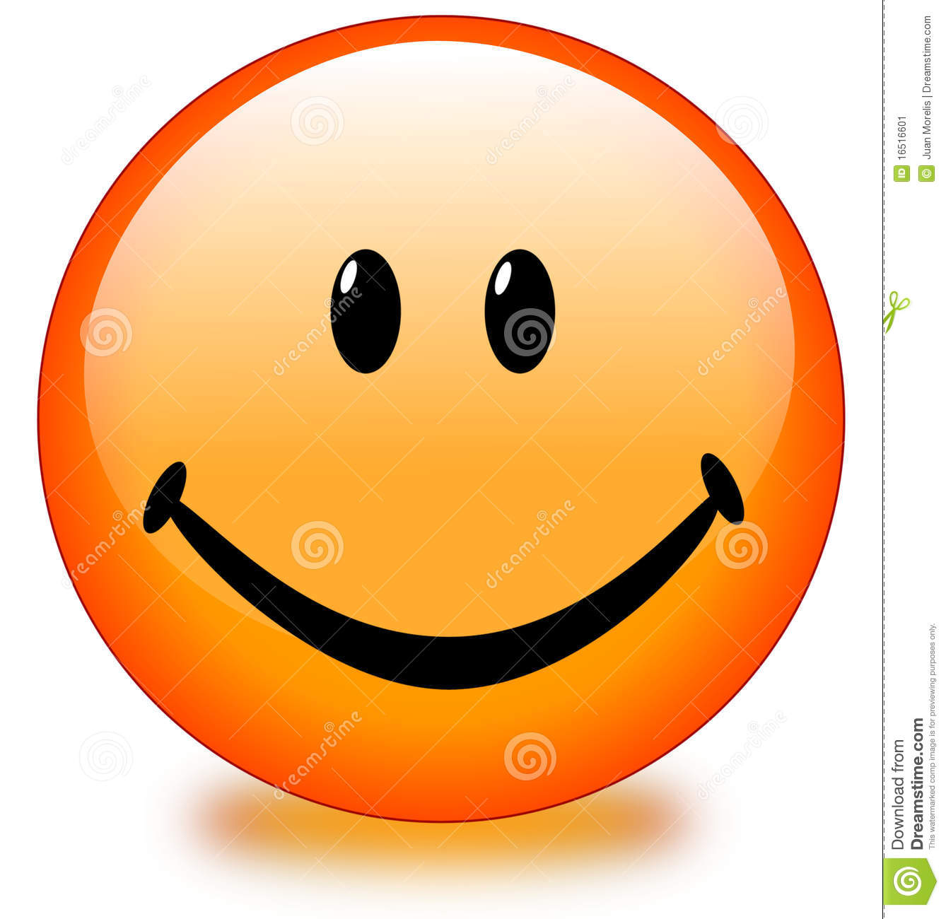 Orange Smiley Face Button Stock Image - Image: 16516601