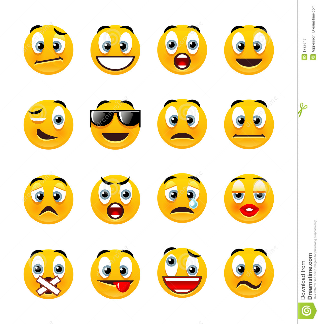 Orange smileys