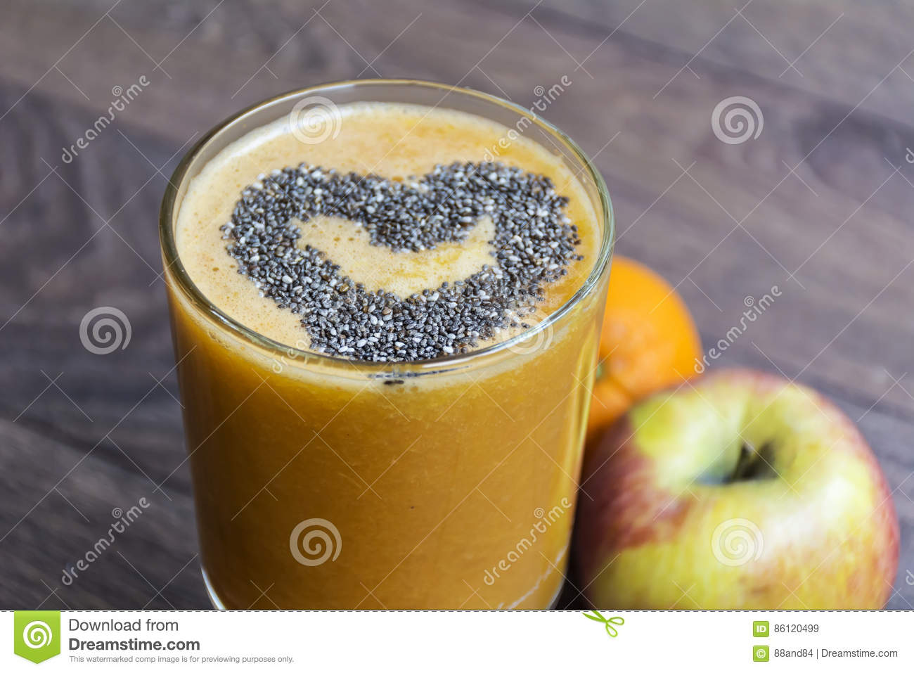 Download Orange Smoothie With Apple  Kiwi  . Healthy Life Concept. Stock Image - Image of colorful, freshness: 86120499