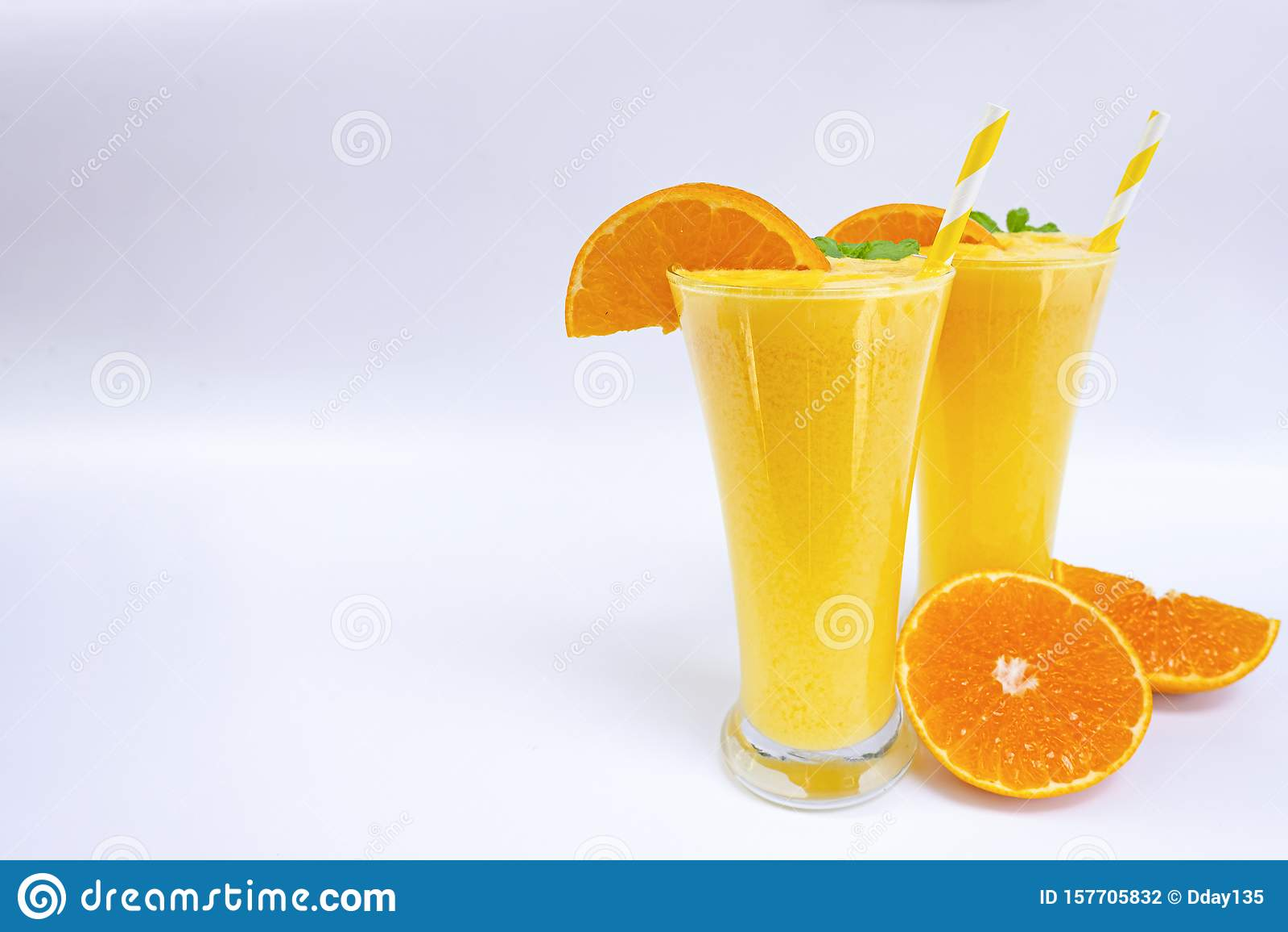 Orange Smoothies Yellow Colorful Fruit Juice Milkshake Blend Beverage Healthy Stock Photo Image Of Fresh Juice 157705832