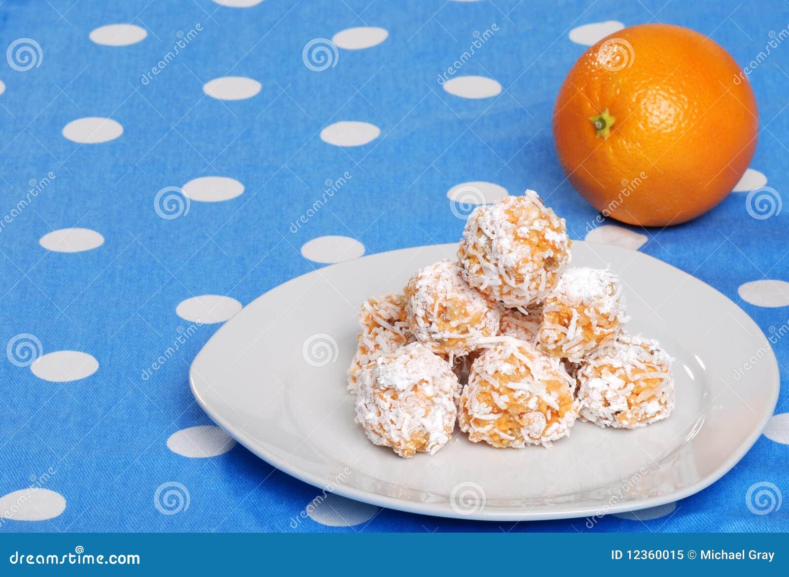 Orange Snowball Cookies Stock Photo 12360015 Megapixl