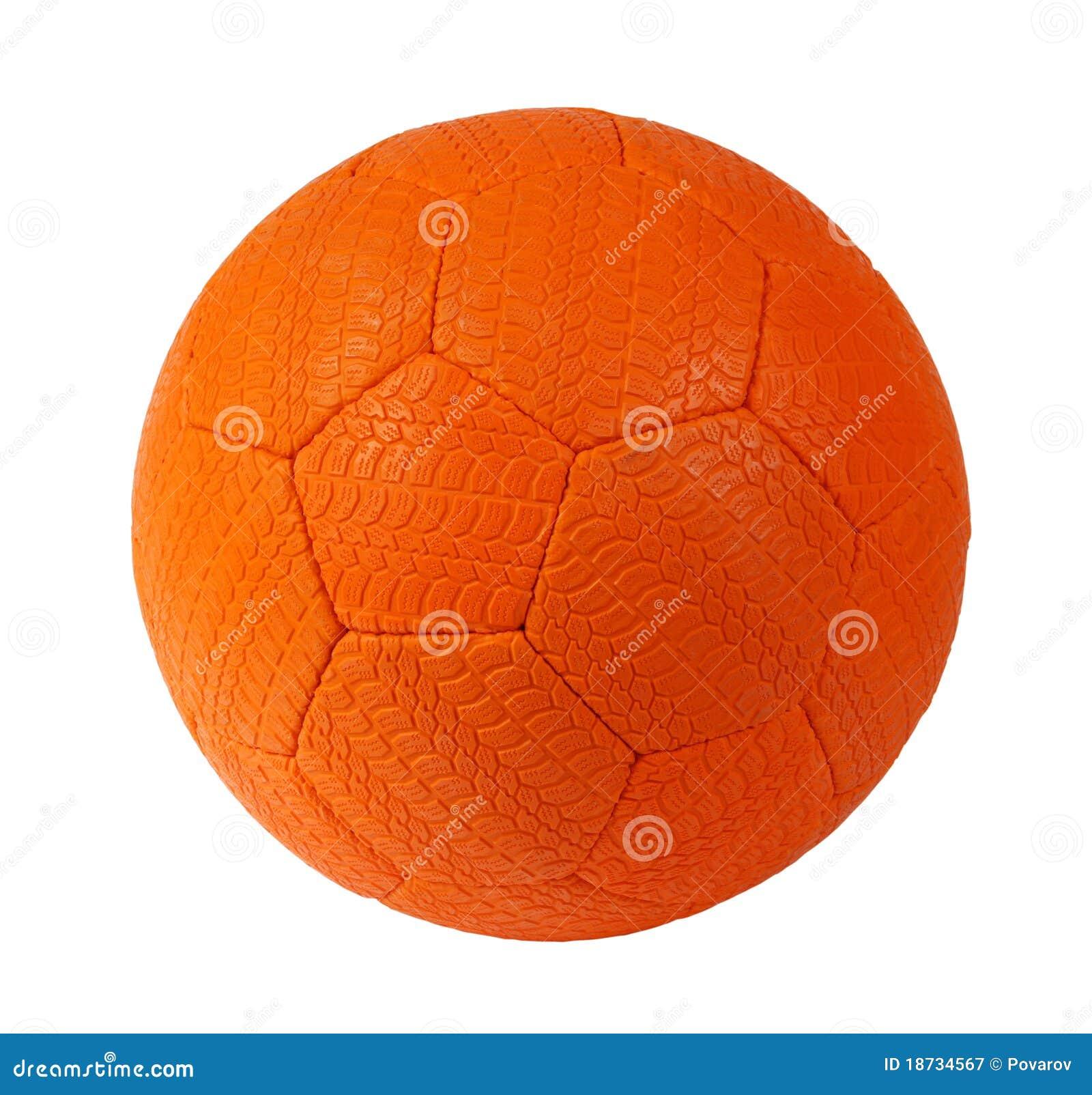 orange soccer ball stock image image of orange football 18734567