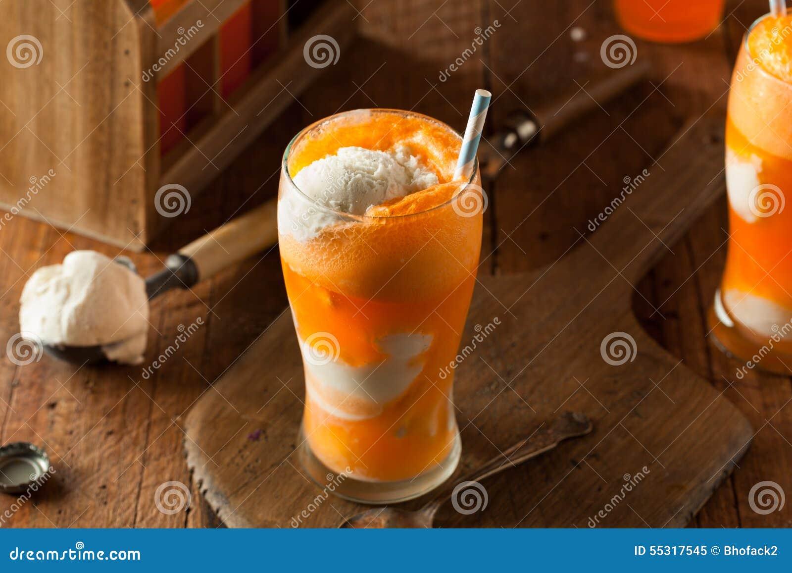 Orange Soda Creamsicle Ice Cream Float Stock Photo - Image: 55317545