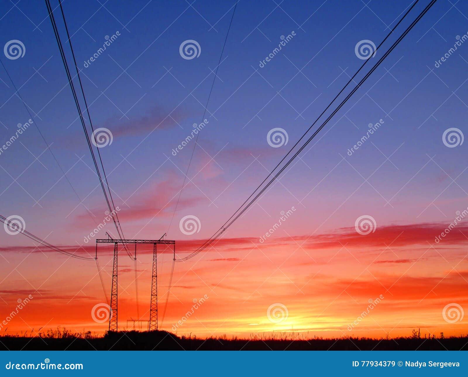 Orange solnedgång