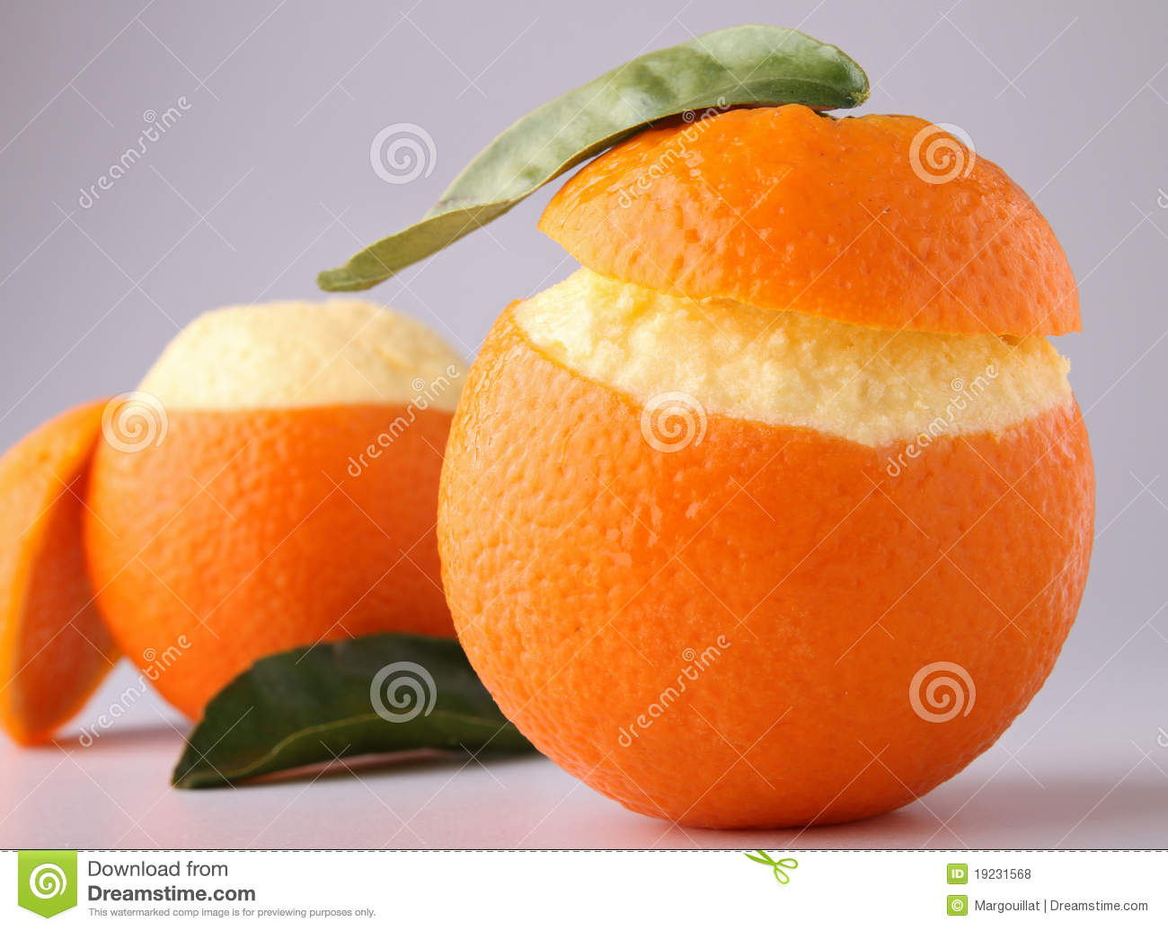 Orange Sorbet Royalty Free Stock Photos - Image: 19231568