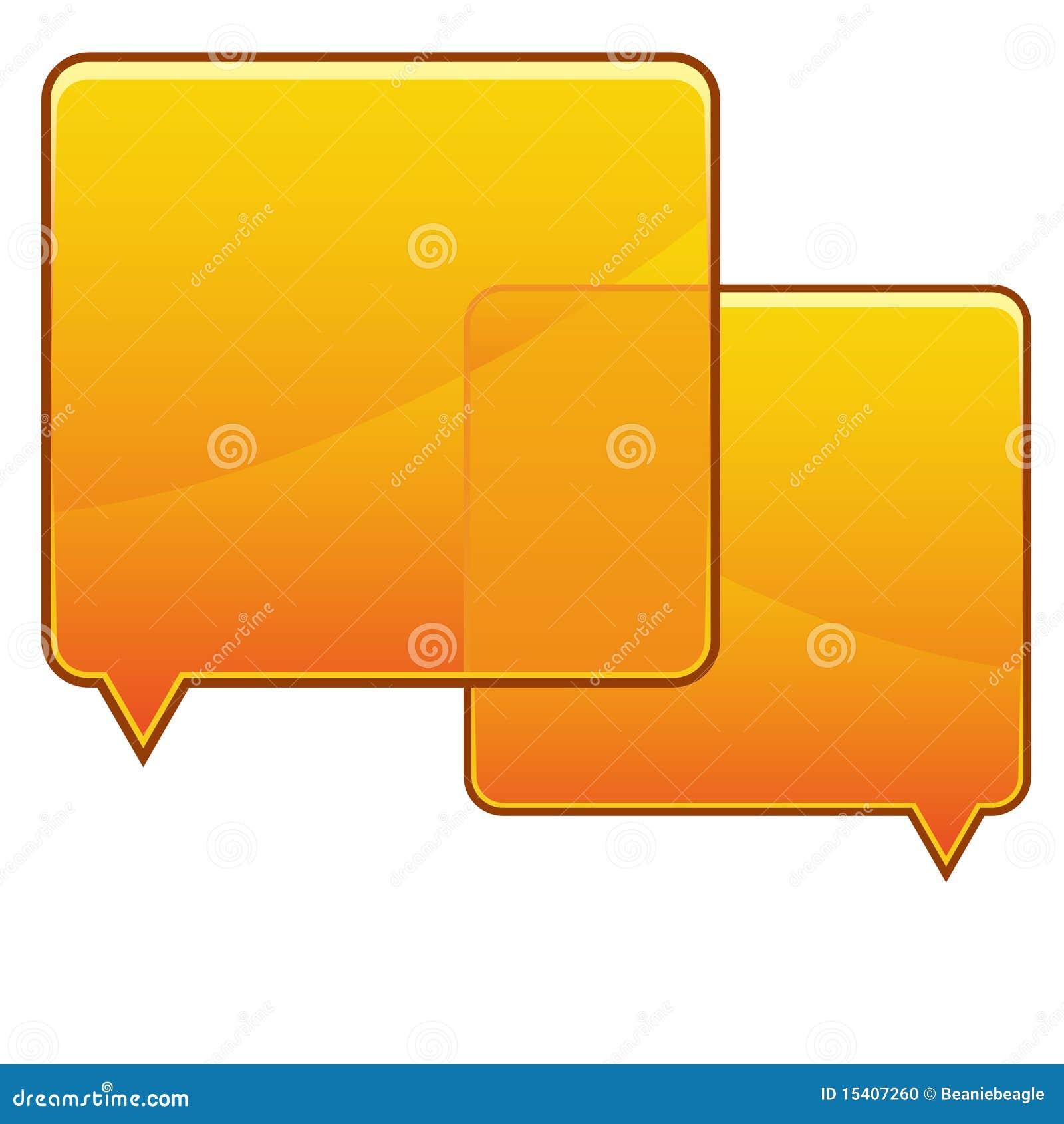 Orange Speech Bubbles