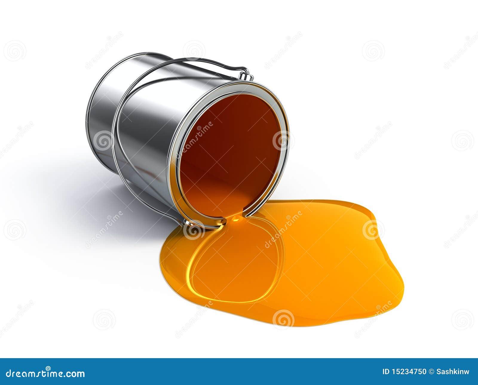 Orange Spilled Paint Stock Illustration Image Of Pool