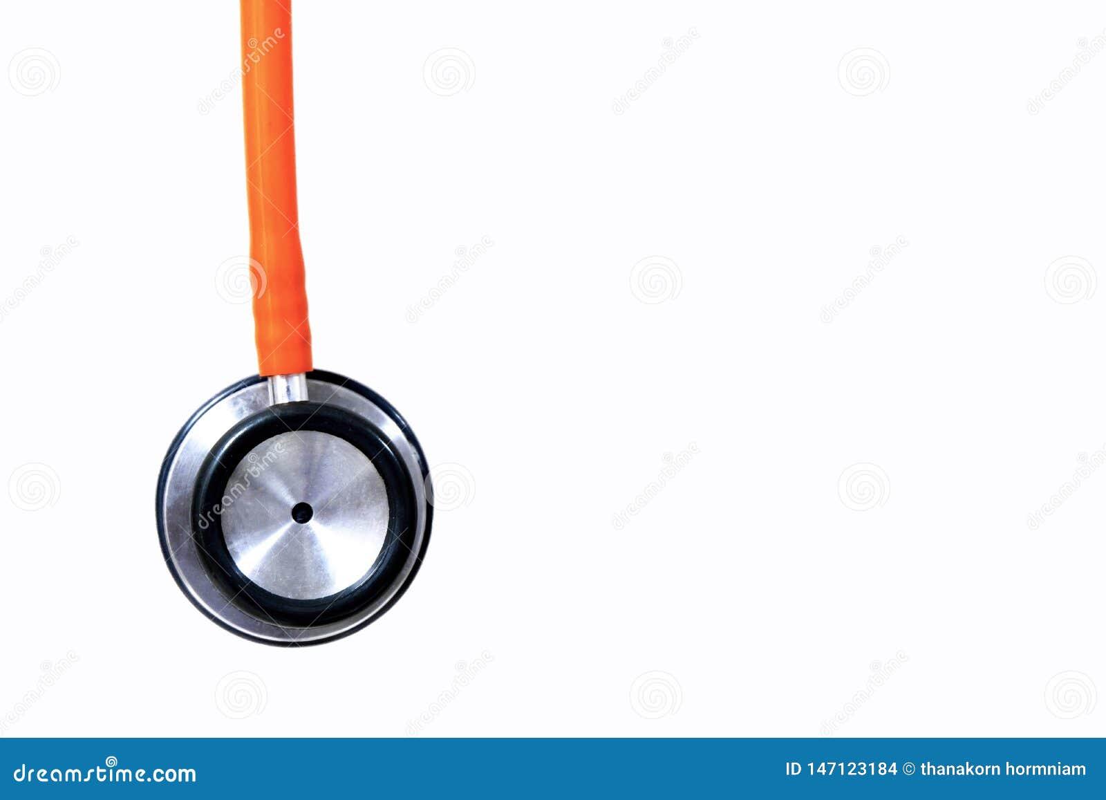 Orange stethoscope