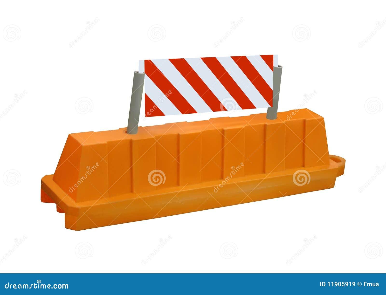 Orange stop security road barrier sign nobody stock