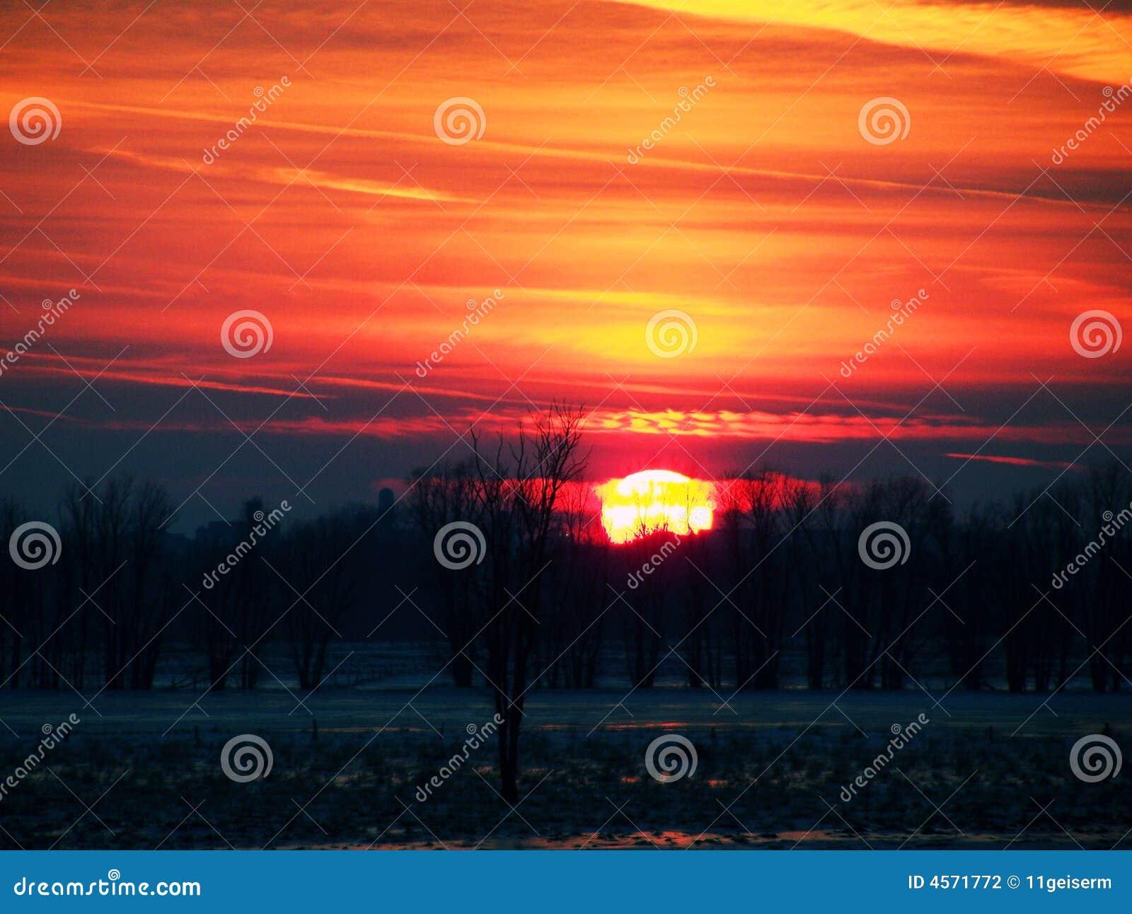 Orange Sunset Stock Photography Image 4571772