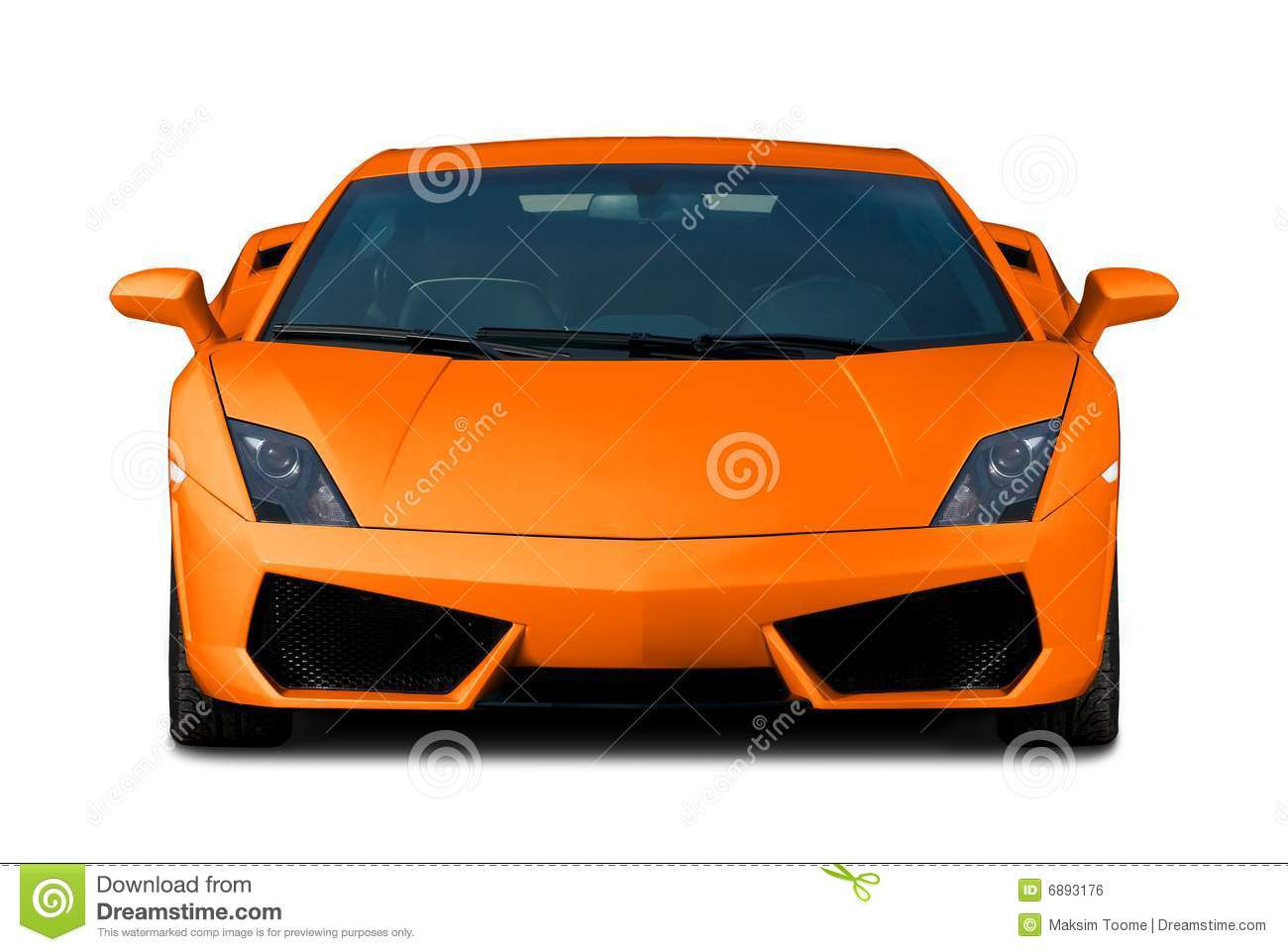Orange Supercar Front View Royalty Free Stock Images Image