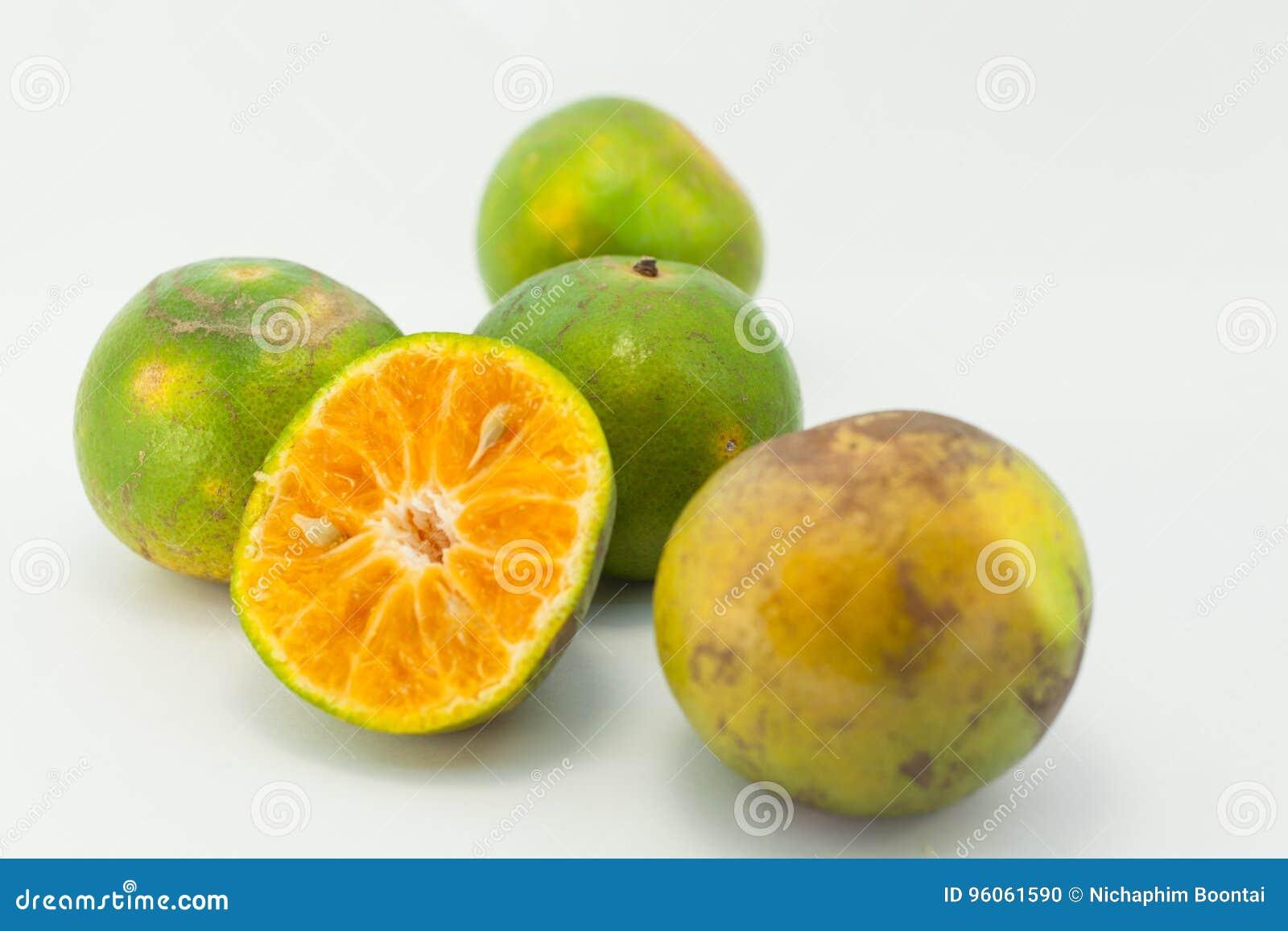 Orange sur le bavkground blanc