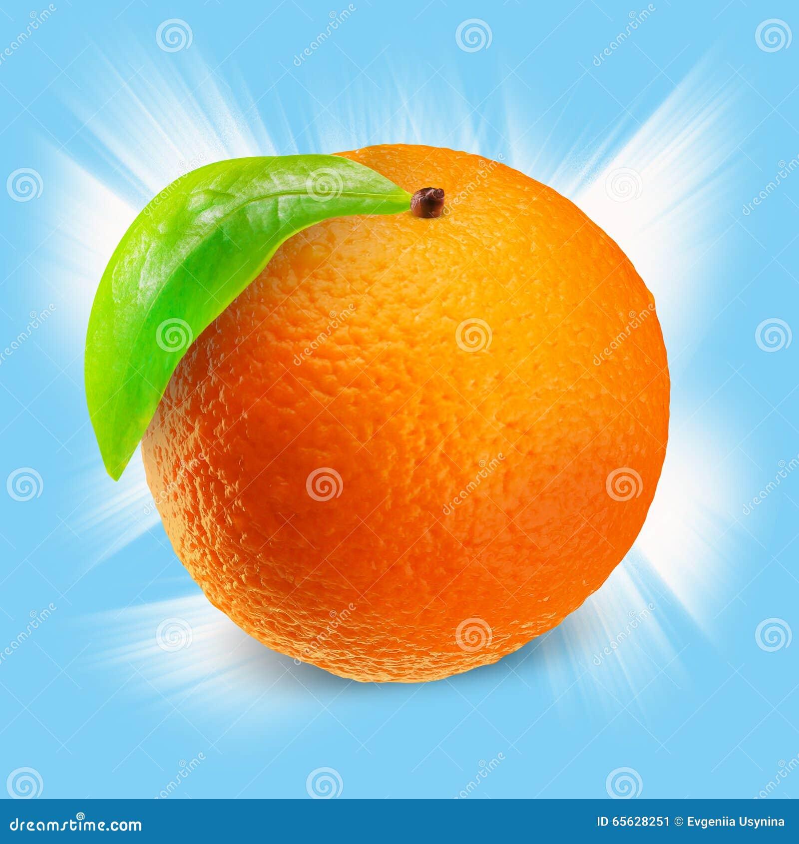 Orange sur le blanc avec le chemin de coupure