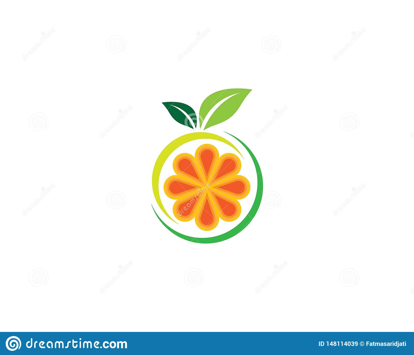 Orange symbol illustration