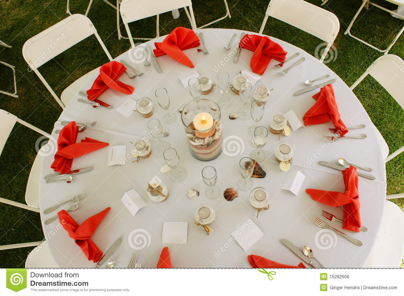 Orange table setting & Orange table setting stock photo. Image of caterer cards - 15282606